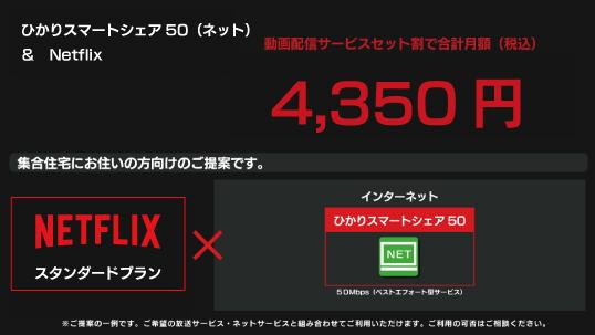 4,350円|Netflix+ひかりスマートシェア50(ネット)